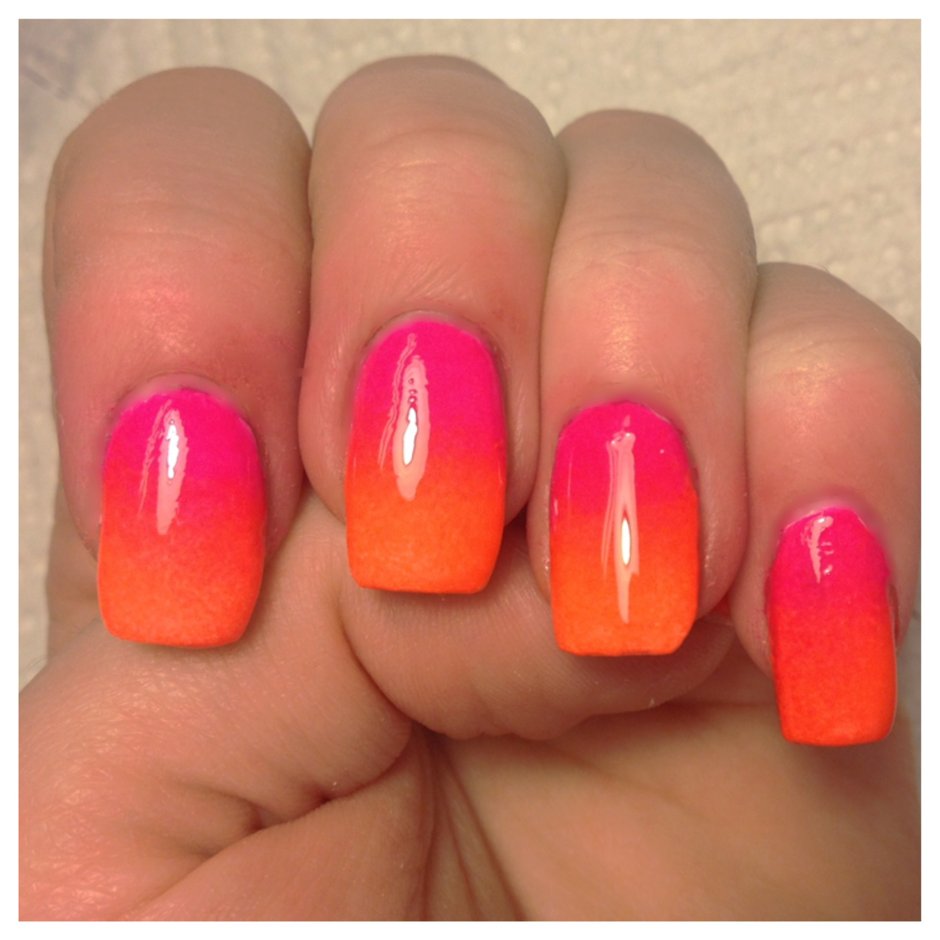 Pink and Orange Ombré Nail Tutorial | NAILS BY ERIKA